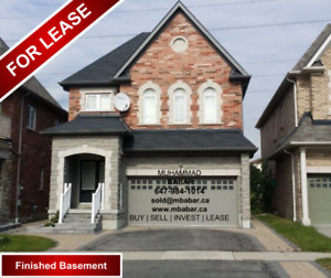 Detached 4 Bed, 5 Washroom Home with Finished Basement in Whitby