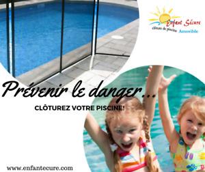 Clôtures de piscine amovibles ENFANT SÉCURE sur la Rive-Nord