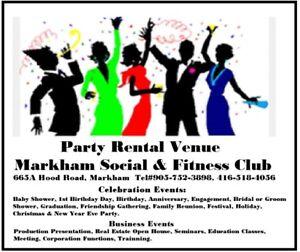 Markham Social Club-Venue/Banquet Hall/Bussiness/Party Rental
