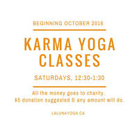 YOGA CLASS - $5 - MONEY GOES TO CHARITY!