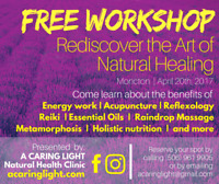 FREE WORKSHOP: Rediscover the Art of Natural Healing
