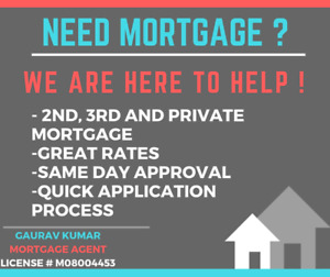 1ST PRIVATE , 2ND MORTGAGE ; THIRD MORTGAGE SAMEDAY APPROVAL