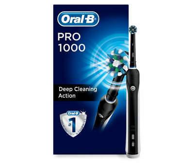 Cepillo de dientes eléctrico Oral-B Pro 1000, negro, con tecnología de Braun, NUEVO negro