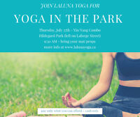 YOGA IN THE PARK with LALUNA YOGA