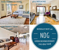 NDG OPEN HOUSE EVENT-3 properties!