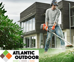 Stihl and Husqvarna trimmers are in stock at Atlantic Outdoor