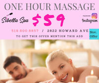 NOW @ SIBELLA SPAONE HOUR MASSAGE***** $59 ******CALL TO BOOK