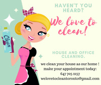 We Love To Clean