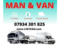 REMOVAL VAN AND MAN SAME DAY 07 934 301 825