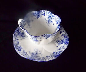 """Shelley """"Dainty Blue"""" Cup and Saucer"""