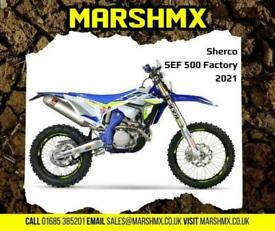 Sherco SEF 500 Factory 2021 Model-Nil Deposit Finance Available from 209/Mth