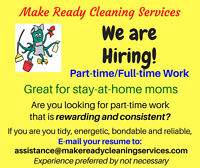 ARE YOU LOOKING FOR A CONSISTENT, REWARDING PART-TIME/FULL-TIME