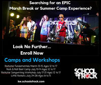 March Break Rock Fundamentals Workshop - School of Rock Camp