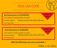Kids hands-on cooking classes - Dietitians in the Kitchen