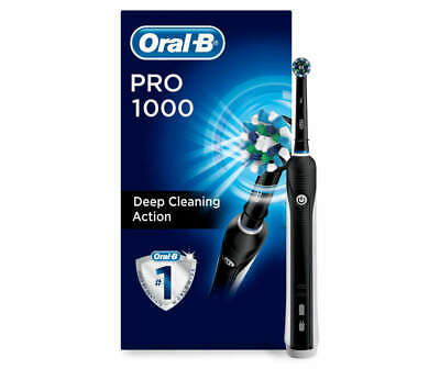 ORAL-B Pro 1000 Electric Toothbrush, Black, Powered by Braun