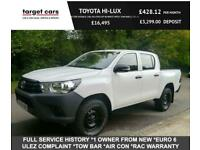 2016 Toyota Hilux 2.4D-4D ACTIVE DOUBLE CAB 4X4 PICK UP IN WHITE WITH TOW BAR (E