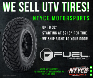 We Sell UTV Tires at Ntyce Motorsports!