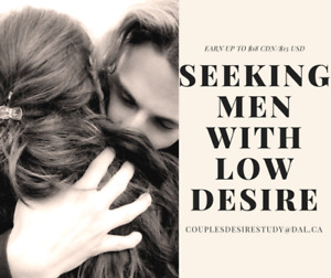 Looking for MEN with LOW DESIRE for Research Study