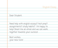 English Tutor for High School and University Students