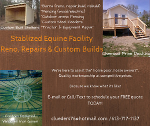 Equine Facility Reno, Repairs and Custom Builds