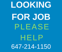Looking for any kind of Job/Work in Sarnia, Call@647-214-1150