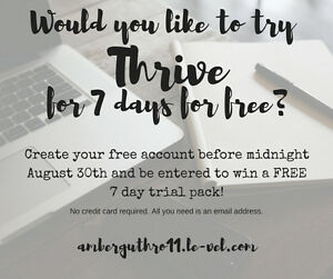 Thrive free for 7 days!!??
