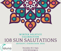 WINTER SOLSTICE CELEBRATION - 108 SUN SALUTATIONS