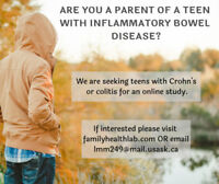 Are You A Parent of A Teenager with Crohn's Disease or Colitis?