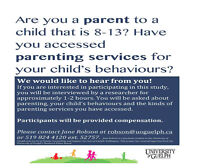 Parents needed for parenting study - compensation provided!