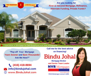 MORTGAGE for SELF Employed ** NEW Immigrants ** WORK permit