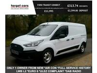 2018 Ford Transit Connect 1.5TDCI 210 EcoBlue LWB L2 Van In White (Euro 6) Air C