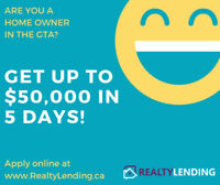 OWN YOUR HOME? GET $50,000 WITHIN 5 DAYS! NO CREDIT CHECK!