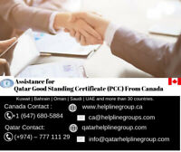Qatar Good Standing Certificate (PCC) From Canada