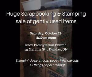 HUGE stamping, scrapbooking gently used Sale paper crafting