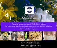 $14 - Party Decorations, Centerpieces, Table arrangements