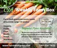 Weekly Farm Box Deliveries (CSA Shares, veggies, meats, eggs...)