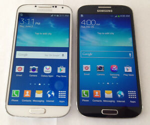 Two Samsung Galaxy S4 16GB. UNLOCKED Like New 10/10 Condition