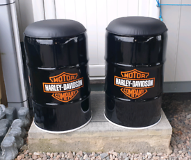 Harley Davidson stool seats chairs oil drum clocks & furniture