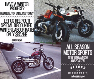 CALGARY MOTORCYCLE SERVICE - $85/H. ALL MAKES & MODELS