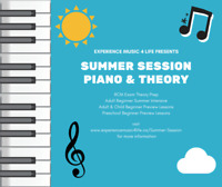 Summer Session Piano & Theory Lessons - Calgary SE
