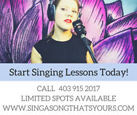 Voice Lessons For Fall!