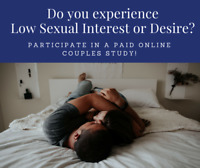 Partnered-men required for paid study on low sexual desire