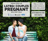 Pregnancy Study - LBGTQ+ couples needed