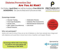 FREE Diabetes Screening - Are you at risk? (bilingue)