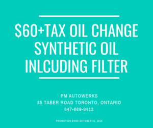 Affordable Synthetic Oil Change!