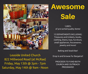 The Awesome Sale at Leaside United Church May 13th & 14th