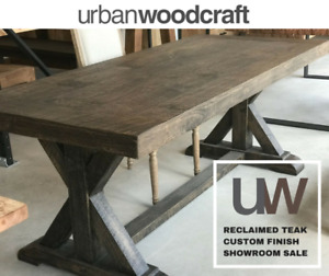 CUSTOM DINING TABLES – UP TO 50% OFF SHOWROOM DISPLAY DISCOUN