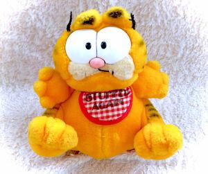 Rare 1981 Garfield Stuffed Again Bib Plush Plushie Orange Cat 80