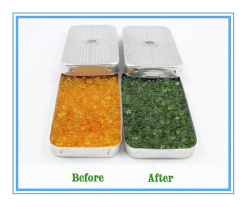 40 Gram Indicating Silica Gel Desiccant Tin Dehumidifier NO Cobalt Chloride