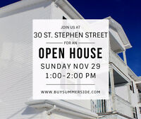OPEN HOUSE: Sunday 1:00-2:00pm at 30 St Stephen Street